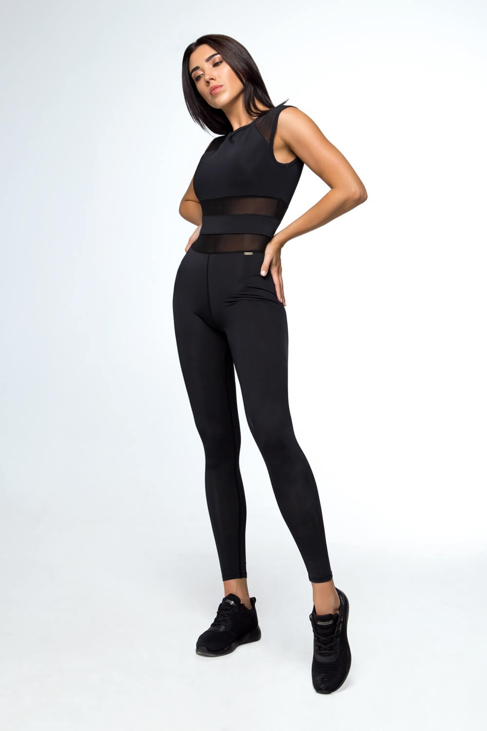 Essential Black Jumpsuit - Designed for Fitness