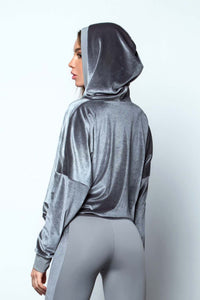 HOODIE BEACH SAND SIVER - Designed for Fitness