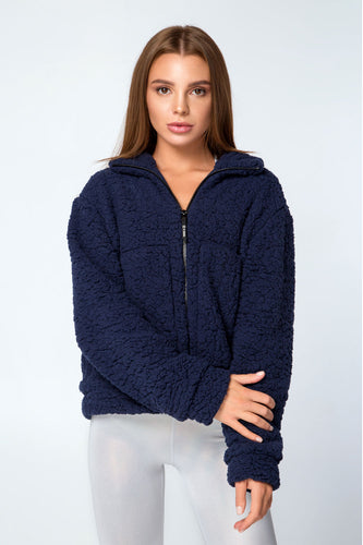 JACKET TEDDY BLUE - Designed for Fitness