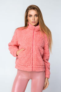 JACKET TEDDY ROSE - Designed for Fitness