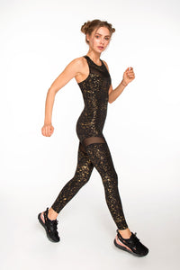 JUMPSUIT STARDUST GOLD - Designed for Fitness