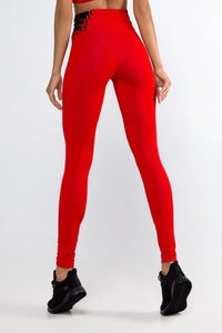 Essential Red Leggings - Designed for Fitness