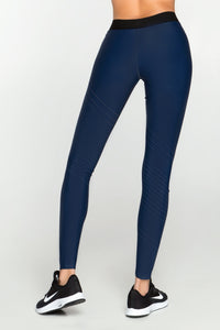 Pixelation Navy Leggings - Designed for Fitness