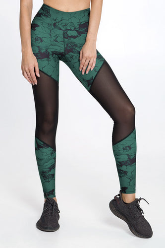 MARBLE EMERALD LEGGINGS - Designed for Fitness