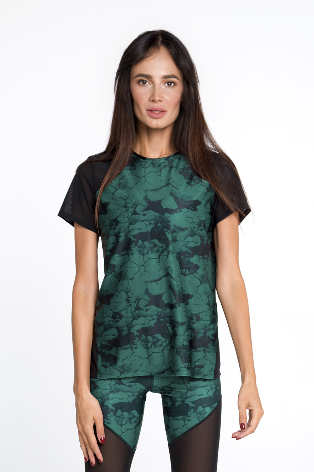 MARBLE EMERALD T-SHIRT - Designed for Fitness