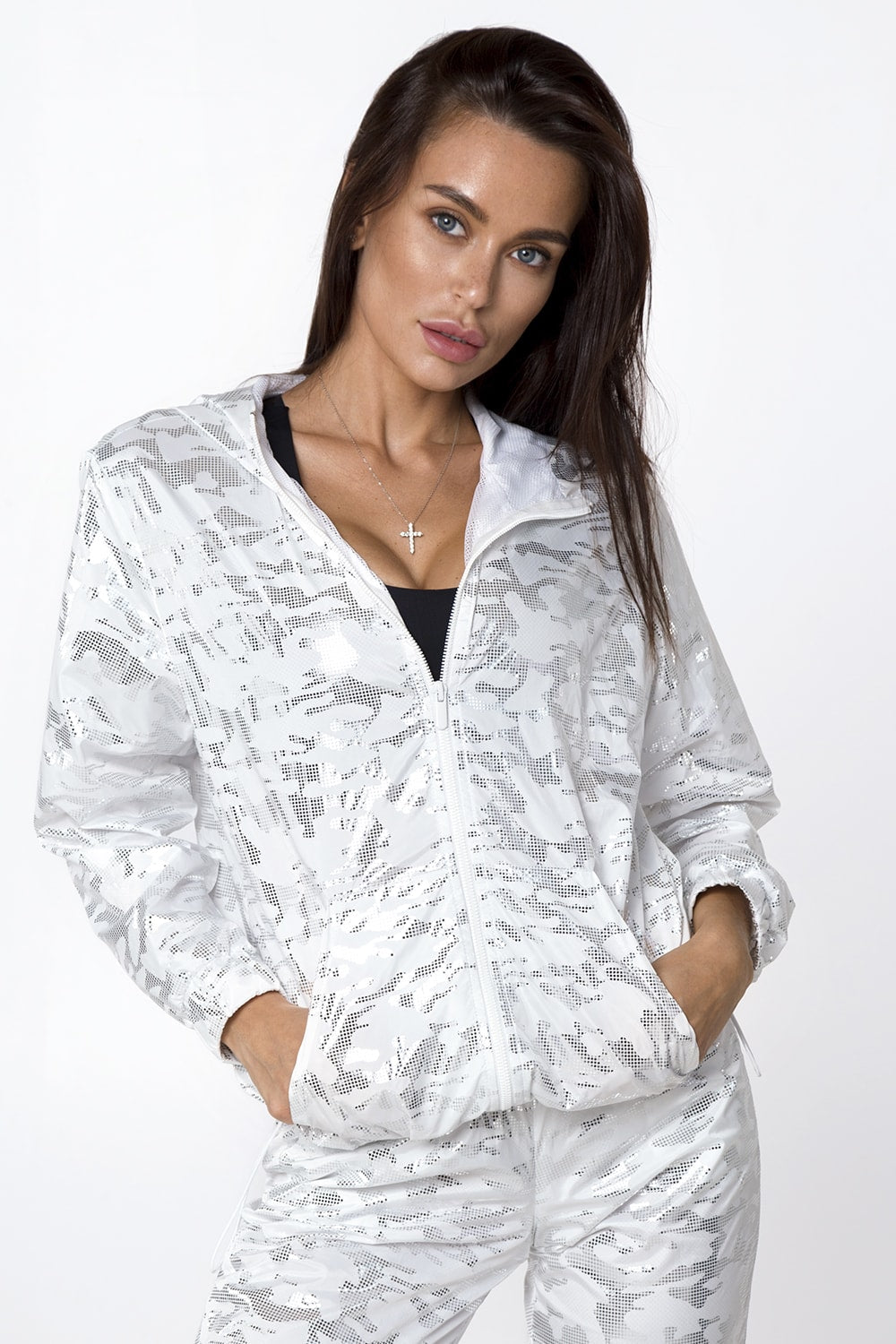 MILITARY WINDBREAKER WHITE - Designed for Fitness