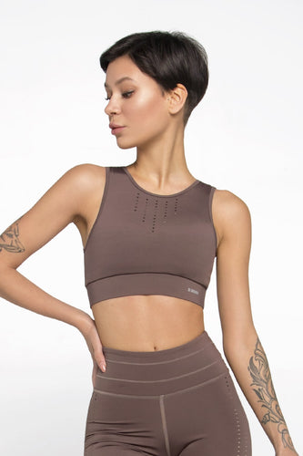 PIXEL CHOCOLATE TOP BRA - Designed for Fitness