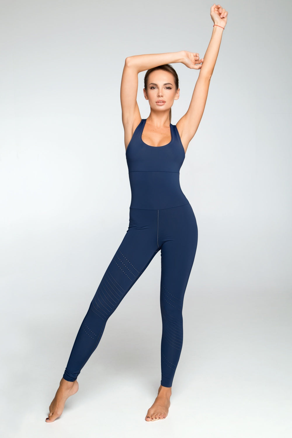 Pixelation Navy Jumpsuit - Designed for Fitness