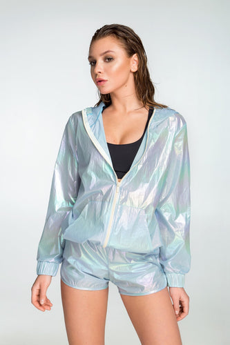 RAINBOW BLUE WINDBREAKER - Designed for Fitness