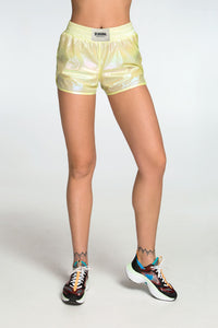 RAINBOW YELLOW SHORTS - Designed for Fitness