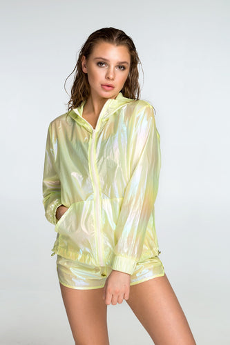 RAINBOW YELLOW WINDBREAKER - Designed for Fitness