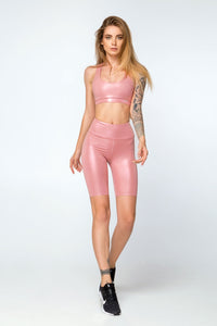 Luminas Rose Set with biker shorts - Designed for Fitness