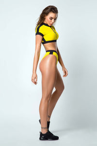 Swimsuit Yellow SURF GIRL - Designed for Fitness