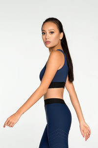 Top Pixelation Navy - Designed for Fitness