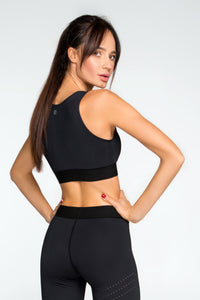 Top Pixelation Nero - Designed for Fitness