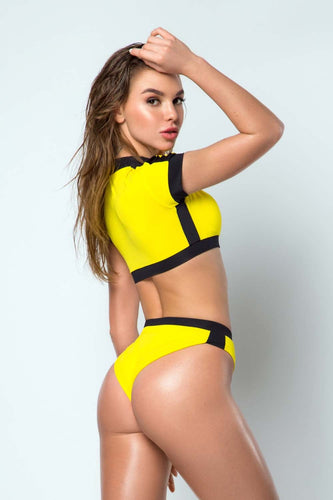 Top Yellow SURF GIRL - Designed for Fitness