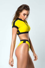 Load image into Gallery viewer, Top Yellow SURF GIRL - Designed for Fitness