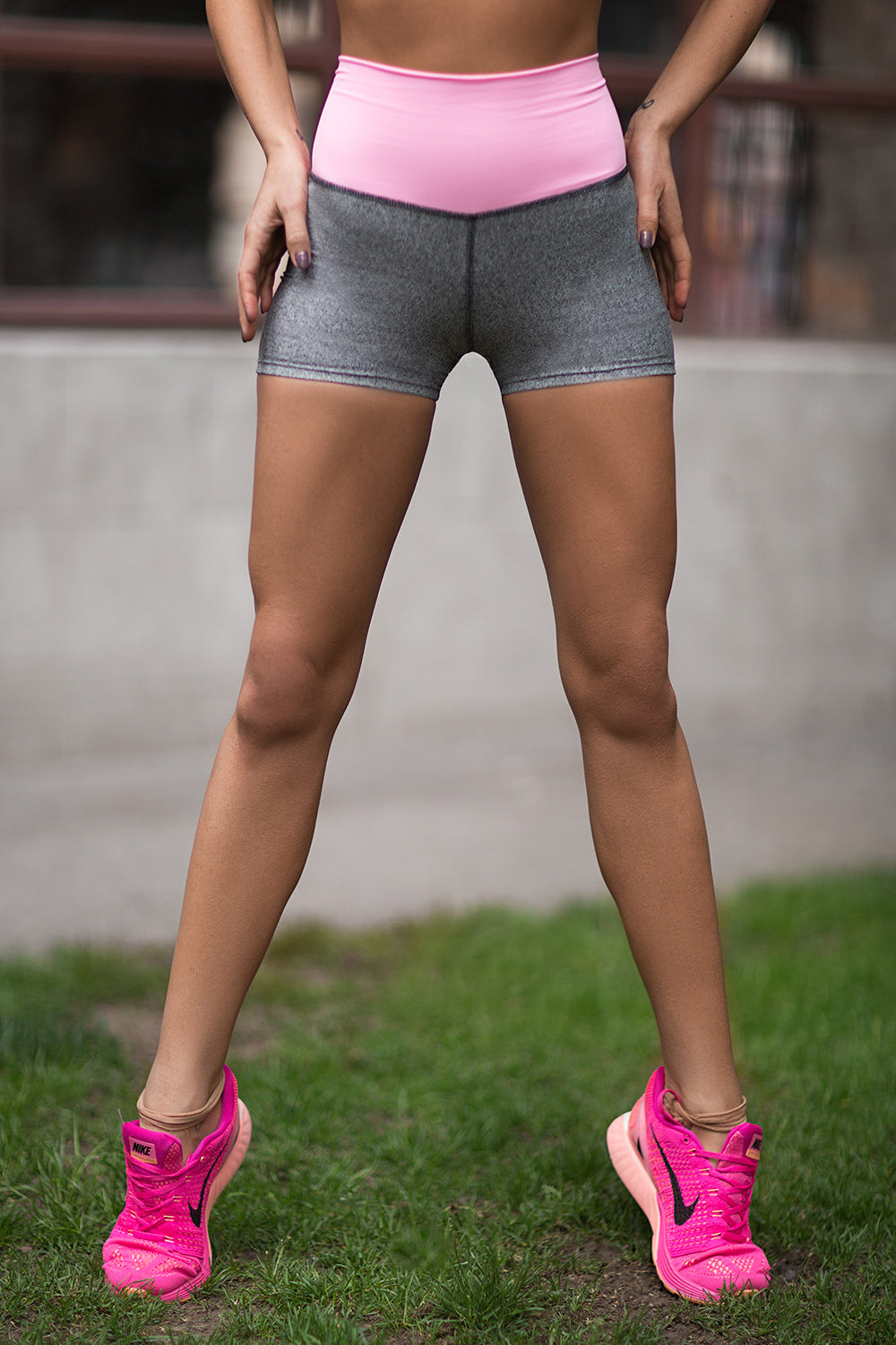 Shorts Jersey Milkshake High Waist - Designed for Fitness