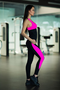Basic Pink Leggings and Shirt - Designed for Fitness