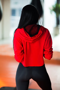 Hoodie Red - Designed for Fitness