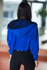 HOODIE ROYAL BLUE - Designed for Fitness