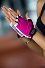 Load image into Gallery viewer, Gloves White N Pink - Designed for Fitness