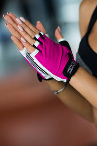 Gloves White N Pink - Designed for Fitness