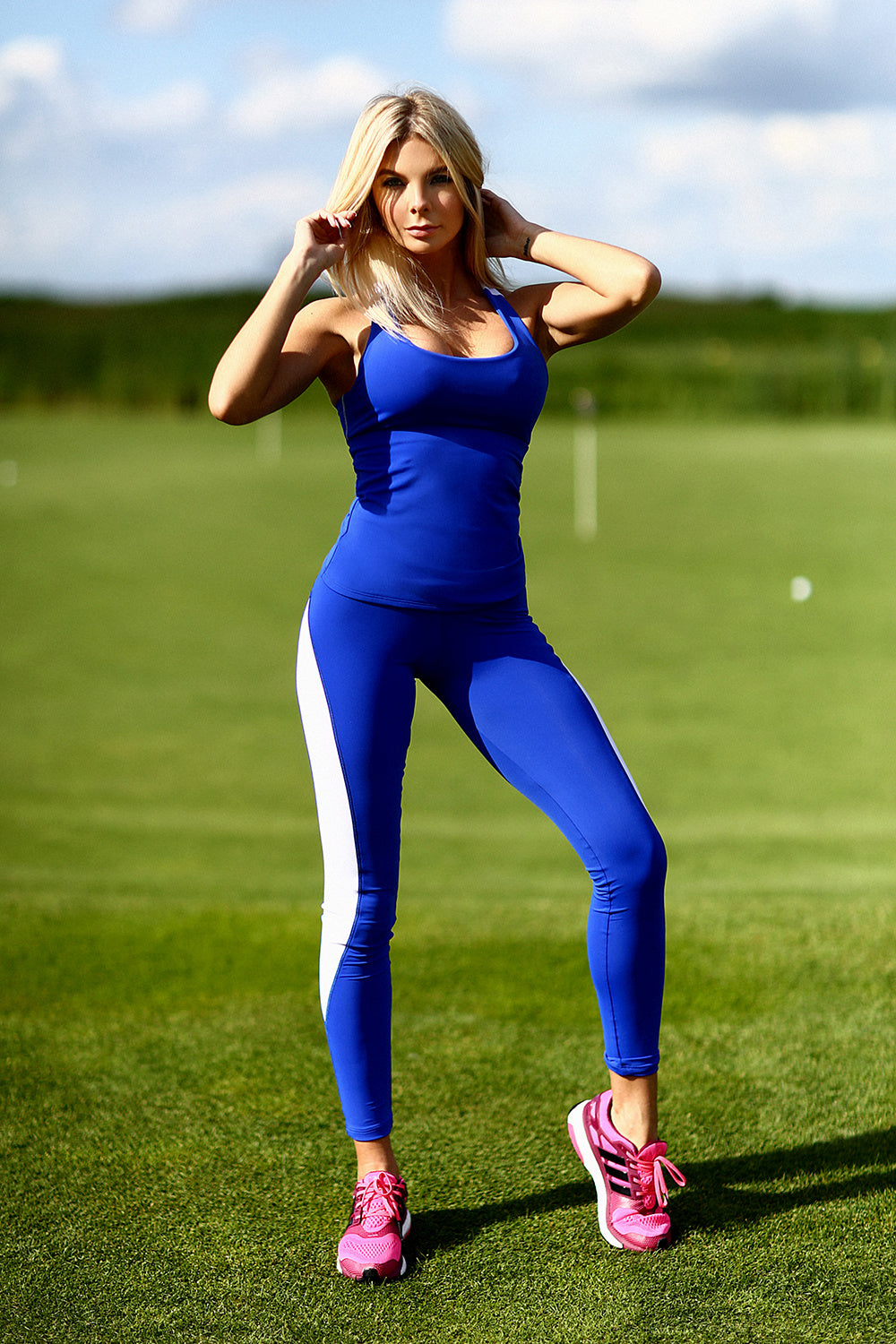 Basic Blue Leggings Set - Designed for Fitness