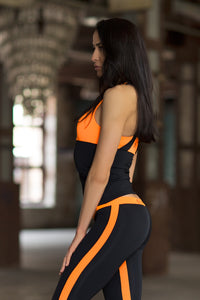 Basic Orange Long - Designed for Fitness