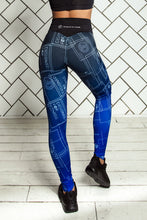 Load image into Gallery viewer, LIMITED Gradient Indigo Leggings - Designed for Fitness