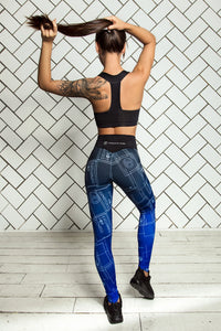 LIMITED Gradient Indigo Bra & Leggings - Designed for Fitness