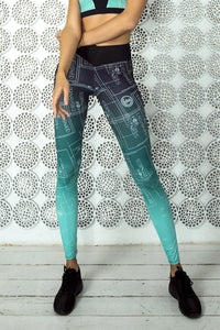 LIMITED Gradient Mint Leggings - Designed for Fitness