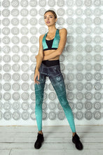 Load image into Gallery viewer, LIMITED Gradient Mint Bra & Leggings - Designed for Fitness