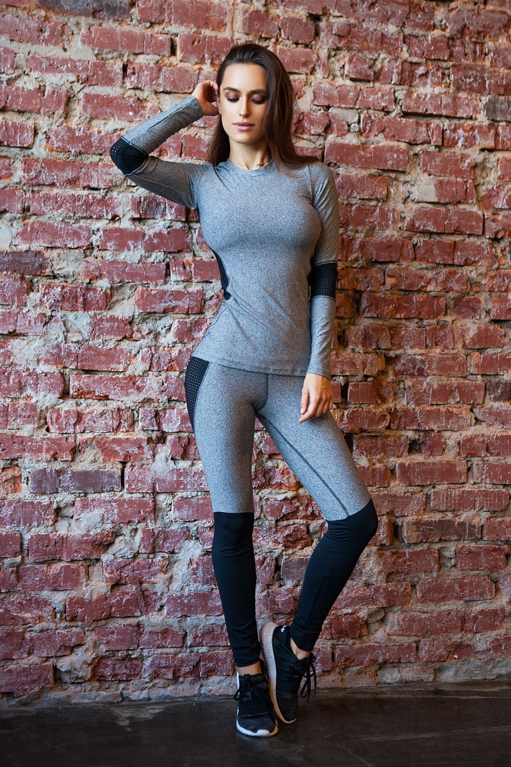Long Sleeve Jersey Perform Black - Designed for Fitness