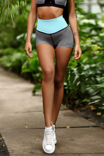 Jersey Freshmint High Waist Shorts - Designed for Fitness