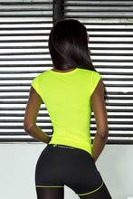 Load image into Gallery viewer, T-SHIRT LEMON-BLACK - Designed for Fitness