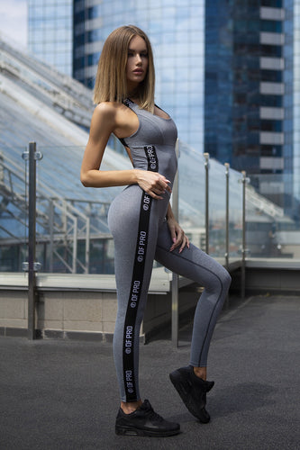 Jumpsuit Pro Fitness Grey - Designed for Fitness