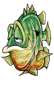 """Gill"" the Bluegill Decal"