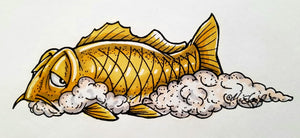 """Slurp"" the Carp Decal"