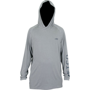 SAMURAI 2 HEATHERED LS PERFORMANCE HOODIE from AFTCO
