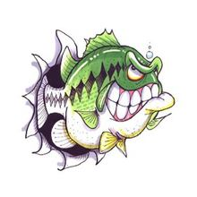 Lucky with Teeth (Largemouth Bass) Decal