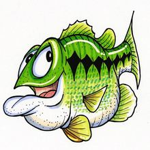 Happy Lucky (Largemouth Bass) Decal