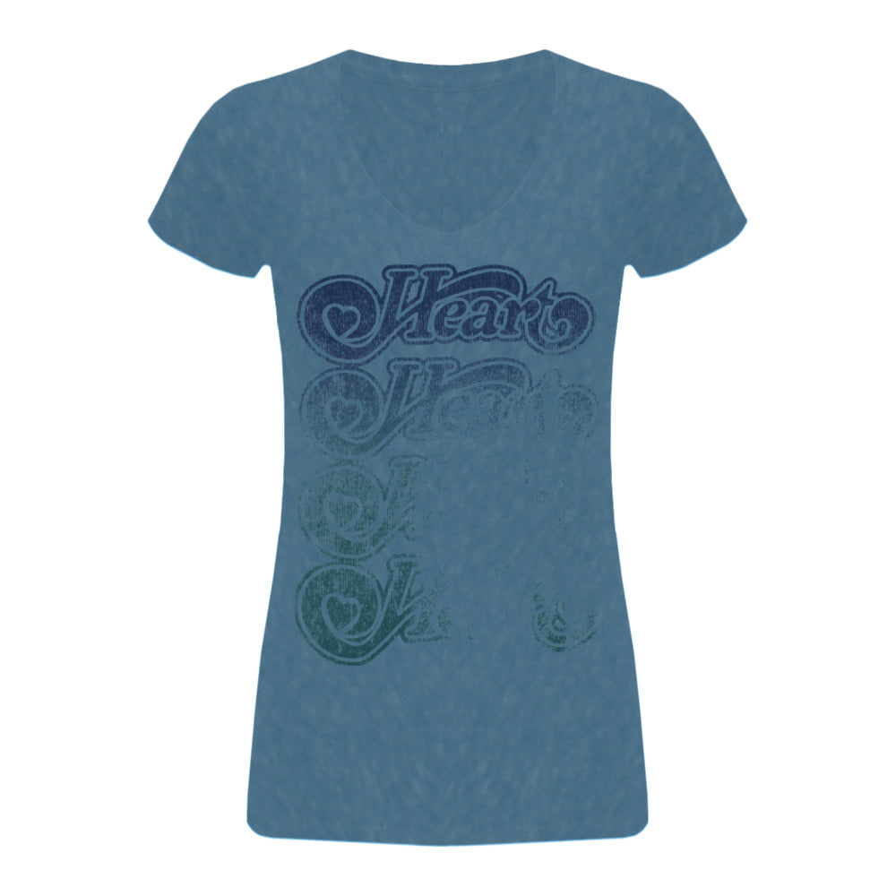Ladies Light Blue V-Neck