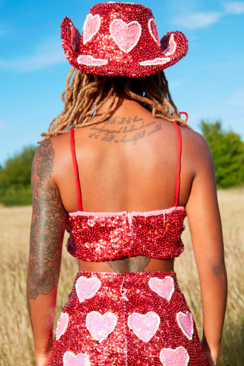 Cupid Cowgirl Top in Red - Easy Tiger