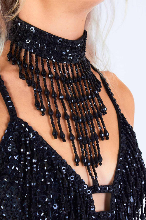 Shimmy Shimmy Black Stardust Choker - Easy Tiger