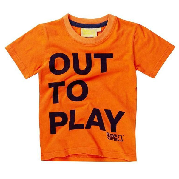 Orange Cotton T-Shirt