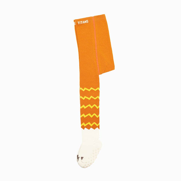 Orange Cotton Tights with Anti-Slip