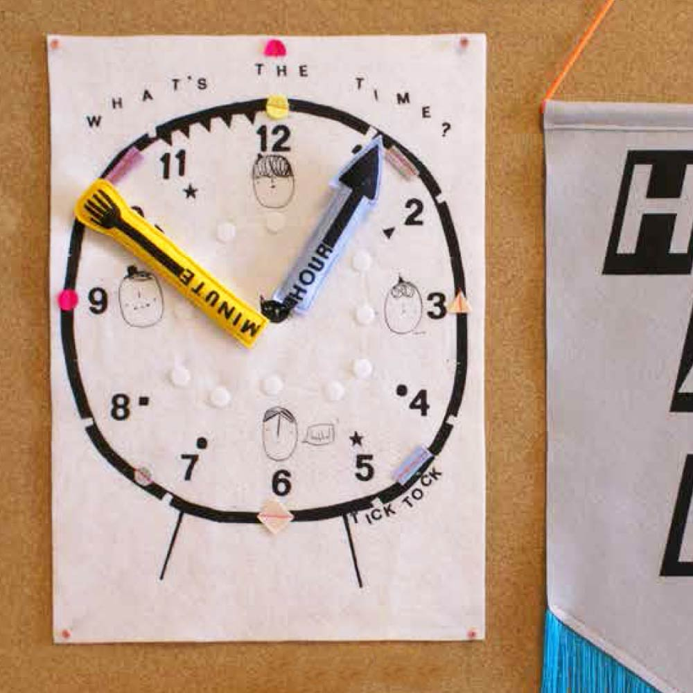Interactive Teaching Clock Toy