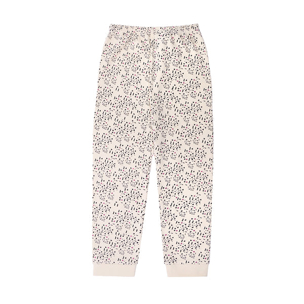 Cream Pattern Leggings