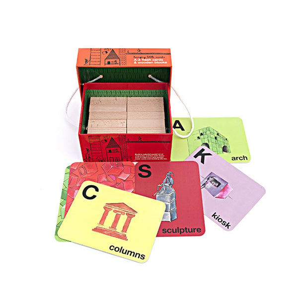 A-Z Flash Cards And Wooden Blocks.